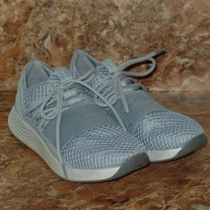Under Armor Gray Sneakers Mesh Lace Up 9